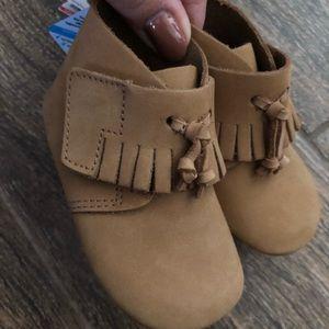 Zara baby leather moccasins size 3 NWT